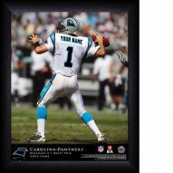 Carolina Panthers Personalized 11 x 14 NFL Action QB Framed Print