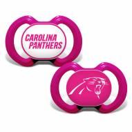 Carolina Panthers Pink Baby Pacifier 2-Pack
