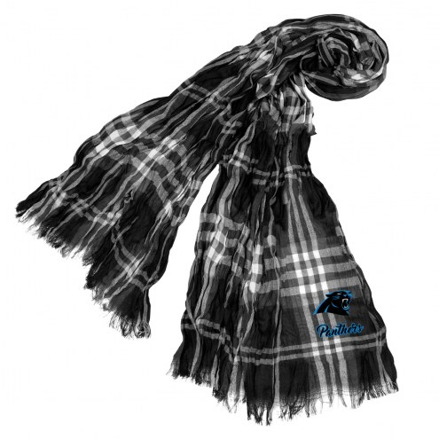Carolina Panthers Plaid Crinkle Scarf