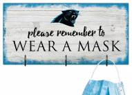 Carolina Panthers Please Wear Your Mask Sign