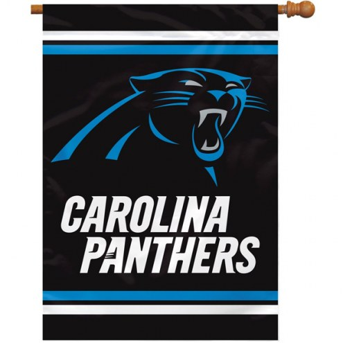 Carolina Panthers NFL Premium 2-Sided House Flag