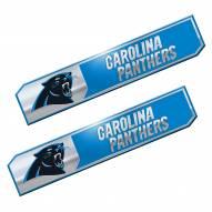 Carolina Panthers Premium Edition Metal Car Emblem - 2 Pack