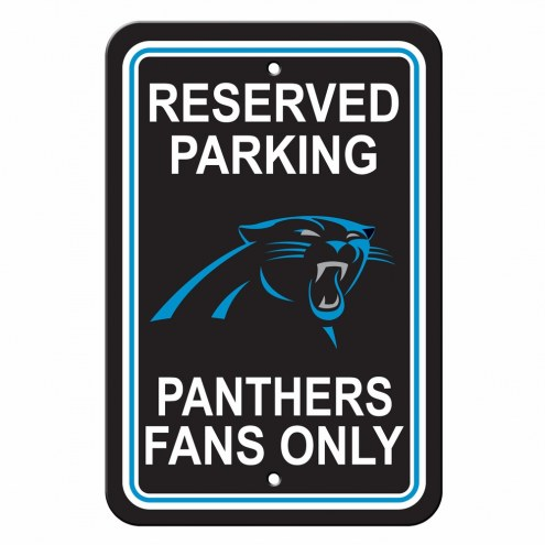 Carolina Panthers Reserved Parking Sign