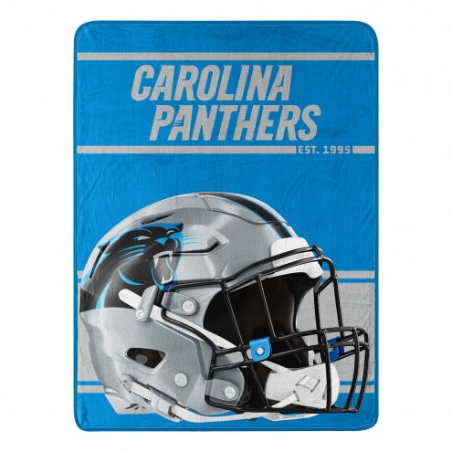 Carolina Panthers Run Raschel Blanket