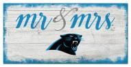 Carolina Panthers Script Mr. & Mrs. Sign