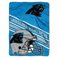 Carolina Panthers Slant Raschel Blanket