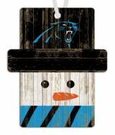 Carolina Panthers Snowman Ornament