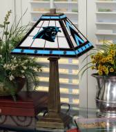 Carolina Panthers Stained Glass Mission Table Lamp
