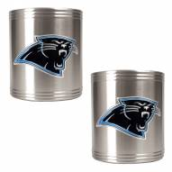 Carolina Panthers Stainless Steel Can Coozie Set