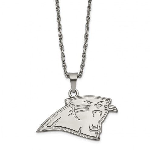 Carolina Panthers Stainless Steel Pendant on Chain
