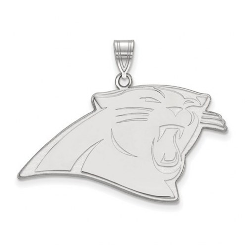 Carolina Panthers Sterling Silver Extra Large Pendant