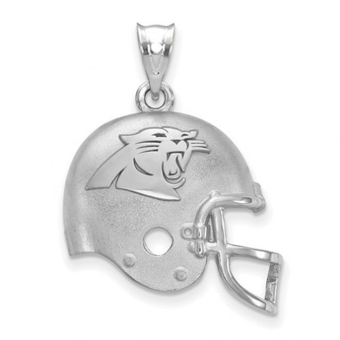 Carolina Panthers Sterling Silver Football Helmet Logo Pendant