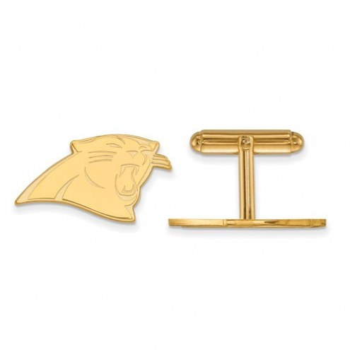 Carolina Panthers Sterling Silver Gold Plated Cuff Links