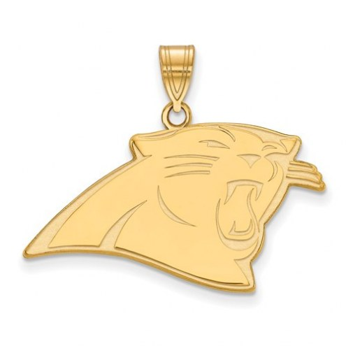 Carolina Panthers Sterling Silver Gold Plated Large Pendant