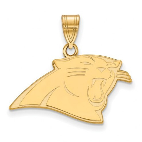 Carolina Panthers Sterling Silver Gold Plated Medium Pendant