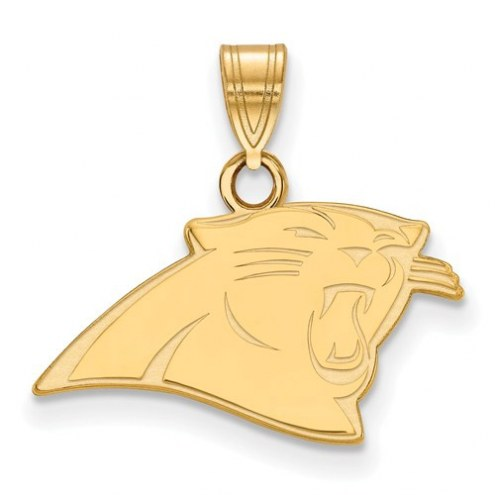 Carolina Panthers Sterling Silver Gold Plated Small Pendant
