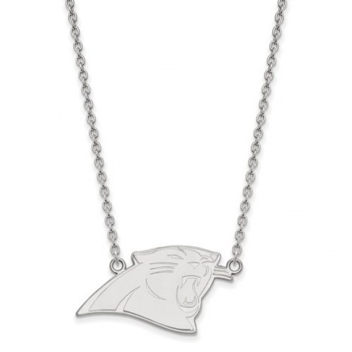 Carolina Panthers Sterling Silver Large Pendant with Necklace
