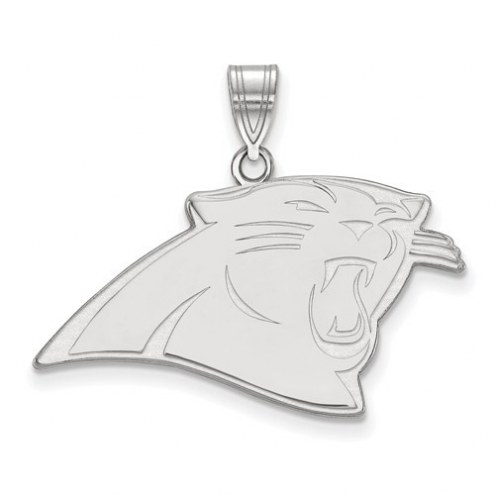 Carolina Panthers Sterling Silver Large Pendant