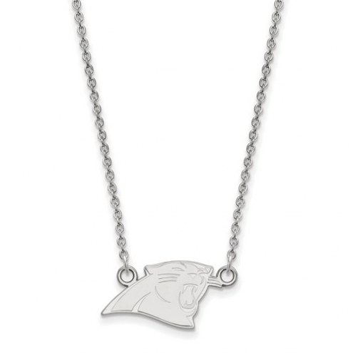 Carolina Panthers Sterling Silver Small Pendant with Necklace