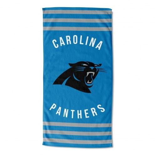 Carolina Panthers Stripes Beach Towel