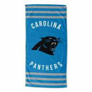 Carolina Panthers Stripes Beach Towel