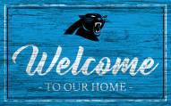 Carolina Panthers Team Color Welcome Sign