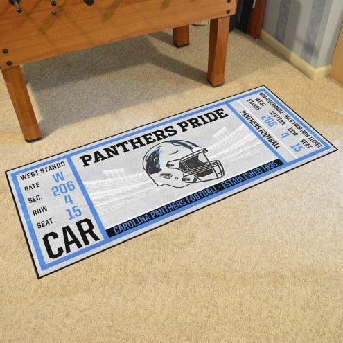 Carolina Panthers Ticket Runner Rug