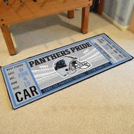 Carolina Panthers Ticket Runner Rug