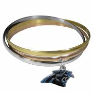 Carolina Panthers Tri-color Bangle Bracelet