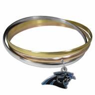 Carolina Panthers Tri-color Bangle Bracelet