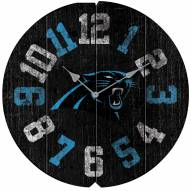 Carolina Panthers Vintage Round Clock