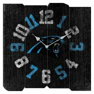 Carolina Panthers Vintage Square Clock