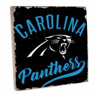 Carolina Panthers Vintage Square Wall Sign