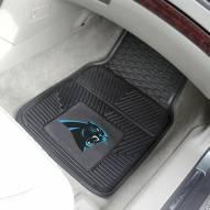 Carolina Panthers Vinyl 2-Piece Car Floor Mats