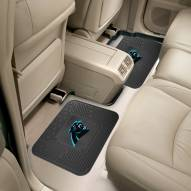 Carolina Panthers Vinyl 2-Piece Rear Floor Mats