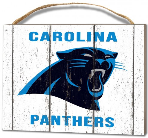 Carolina Panthers Weathered Logo Small Plaque