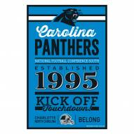 Carolina Panthers Established Wood Sign