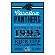 Carolina Panthers Established Wood Sign