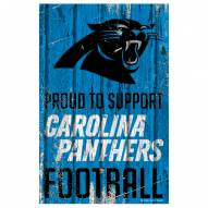 Carolina Panthers Proud to Support Wood Sign