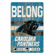 Carolina Panthers Slogan Wood Sign