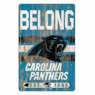 Carolina Panthers Slogan Wood Sign