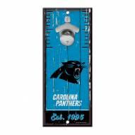 Carolina Panthers Wood Bottle Opener