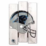 Carolina Panthers Wood Fence Sign