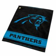 Carolina Panthers Woven Golf Towel