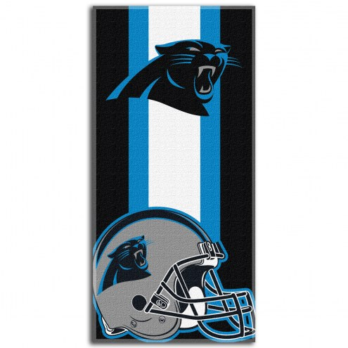 Carolina Panthers Zone Read Beach Towel