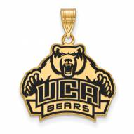 Central Arkansas Bears Sterling Silver Gold Plated Large Enameled Pendant