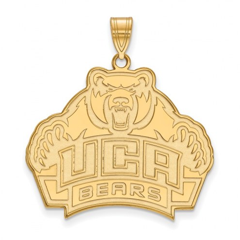 Central Arkansas Bears Sterling Silver Gold Plated Extra Large Pendant