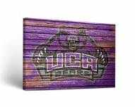 Central Arkansas Bears Weathered Canvas Wall Art