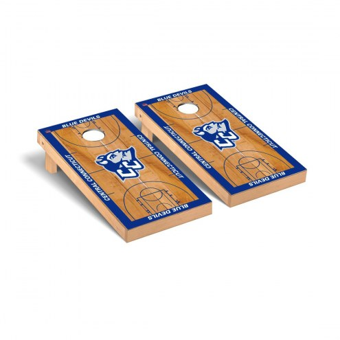 Central Connecticut State Blue Devils Basketball Cornhole Game Set