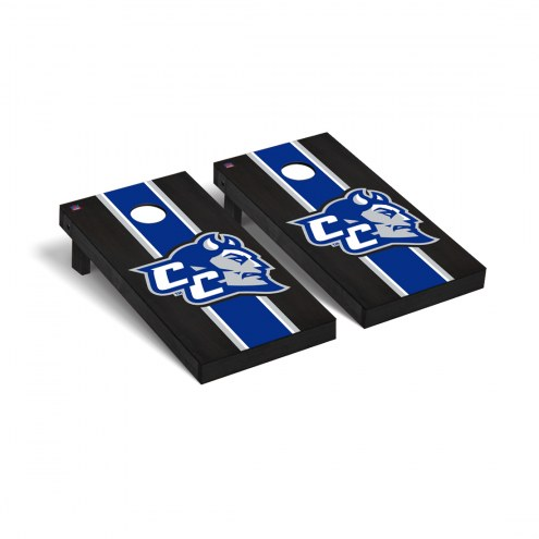 Central Connecticut State Blue Devils Onyx Stained Cornhole Game Set